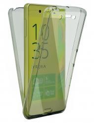 Husa Full TPU 360 (fata + spate) pentru Sony Xperia Z5, Gri transparent0