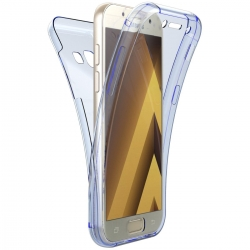 Husa Full TPU 360 (fata + spate) Samsung Galaxy A3 (2017), Albastru Transparent [0]