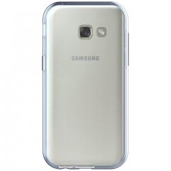 Husa Full TPU 360 (fata + spate) Samsung Galaxy A3 (2017), Albastru Transparent [2]