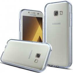 Husa Full TPU 360 (fata + spate) Samsung Galaxy A3 (2017), Albastru Transparent [1]