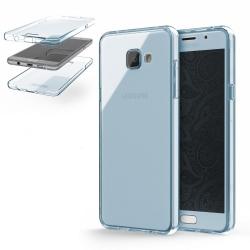 Husa Full TPU 360 (fata + spate) Samsung Galaxy A5 (2016), Albastru Transparent1
