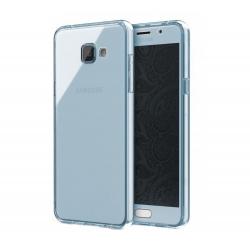 Husa Full TPU 360 (fata + spate) Samsung Galaxy A5 (2016), Albastru Transparent0
