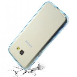 Husa Full TPU 360 (fata + spate) Samsung Galaxy A5 (2017), Albastru Transparent4