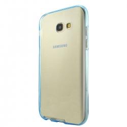 Husa Full TPU 360 (fata + spate) Samsung Galaxy A5 (2017), Albastru Transparent3