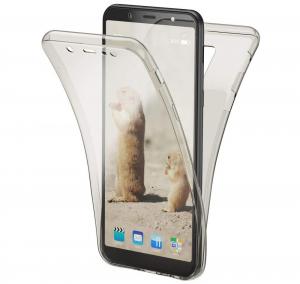 Husa Full TPU 360 fata + spate Samsung Galaxy A6+ (2018), Gri Transparent0