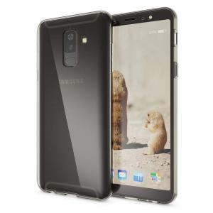 Husa Full TPU 360 fata + spate Samsung Galaxy A6+ (2018), Gri Transparent1