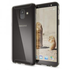 Husa Full TPU 360 fata + spate Samsung Galaxy A6 (2018), Gri transparent2