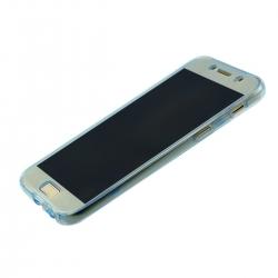 Husa Full TPU 360 (fata + spate) Samsung Galaxy A7 (2017), Albastru Transparent1