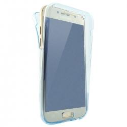 Husa Full TPU 360 (fata + spate) Samsung Galaxy A7 (2017), Albastru Transparent0