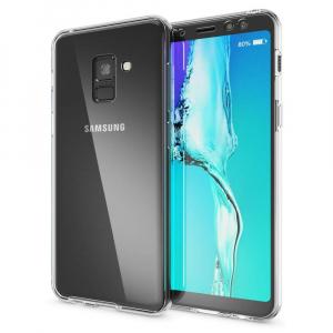 Husa Full TPU 360 fata + spate Samsung Galaxy A8 (2018), Transparent [1]
