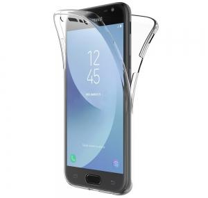 Husa Full TPU 360 fata spate Samsung Galaxy J3 (2017), Transparent0