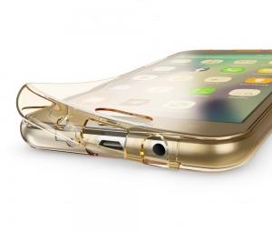 Husa Full TPU 360 fata spate Samsung Galaxy J5 (2017), Gold Transparent2