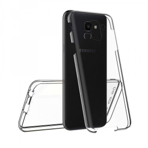 Husa Full TPU 360 fata + spate Samsung Galaxy J6 (2018), Transparent3