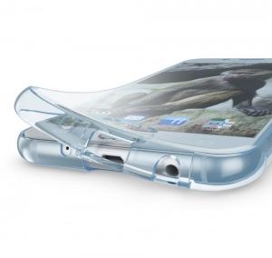 Husa Full TPU 360 fata spate Samsung Galaxy J7 (2017), Albastru Transparent2
