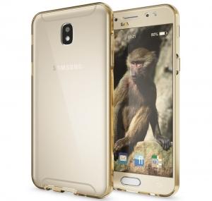 Husa Full TPU 360 fata spate Samsung Galaxy J7 (2017), Gold Transparent1