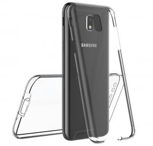 Husa Full TPU 360 fata spate Samsung Galaxy J7 (2017), Transparent3