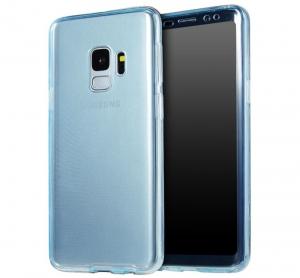 Husa Full TPU 360 fata + spate Samsung Galaxy S9, Albastru Transparent0