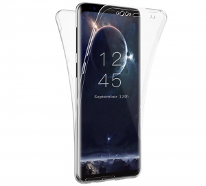 Husa Full TPU 360 fata spate Samsung Galaxy S9 Plus, Transparent0