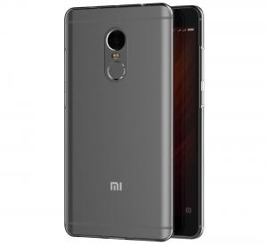 Husa Full TPU 360 fata spate Xiaomi Redmi Note 4, Gri Transparent1