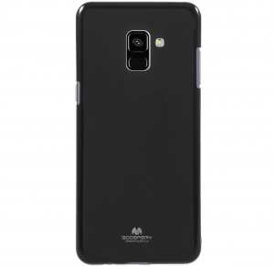 Husa Goospery Jelly Samsung Galaxy A8 (2018), Negru [0]