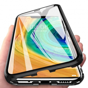 Husa Huawei Mate 30 Pro Magnetic Glass 360 (sticla fata + spate), Negru2