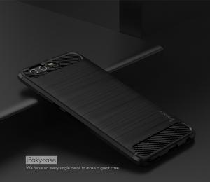 Husa Huawei P10 iPaky Fiber, Negru2
