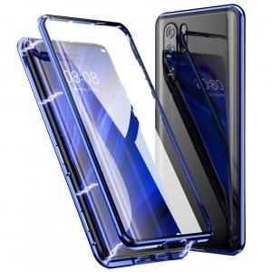 Husa Huawei P30 Pro Magnetic Glass 360 (sticla fata + spate), Albastru0