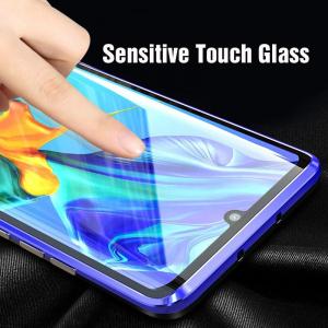 Husa Huawei P30 Pro Magnetic Glass 360 (sticla fata + spate), Albastru3