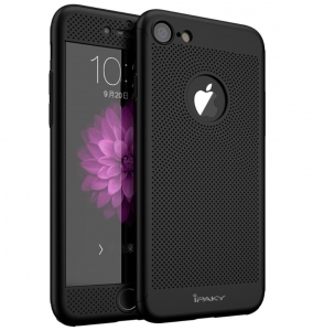 Husa iPaky 360 Air + folie sticla iPhone 7, Black0