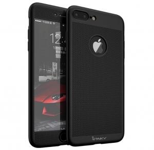 Husa iPaky 360 Air + folie sticla iPhone 7 Plus, Negru0