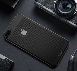 Husa iPaky 360 Air + folie sticla iPhone 7 Plus, Negru2