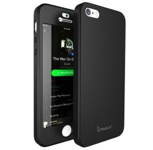 Husa iPaky 360 + folie sticla iPhone 5 / 5S / SE, Black0