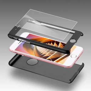 Husa iPaky 360 + folie sticla iPhone 6 Plus / 6S Plus, Negru [2]