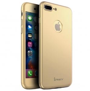 Husa iPaky 360 + folie sticla iPhone 7 Plus, Gold0