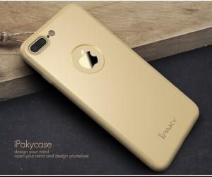 Husa iPaky 360 + folie sticla iPhone 7 Plus, Gold1