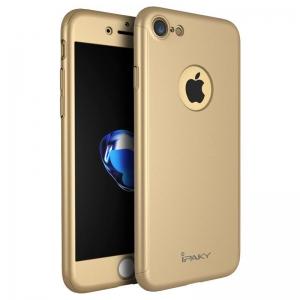 Husa iPaky 360 + folie sticla iPhone 8, Gold0