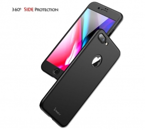 Husa iPaky 360 + folie sticla iPhone 8 Plus, Black [3]