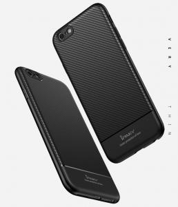 Husa iPaky Carbon Fiber iPhone 7, Negru [1]