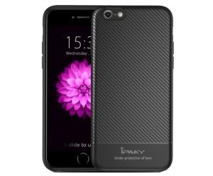 Husa iPaky Carbon Fiber iPhone 8, Negru0