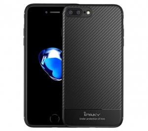 Husa iPaky Carbon Fiber iPhone 8 Plus, Negru [0]