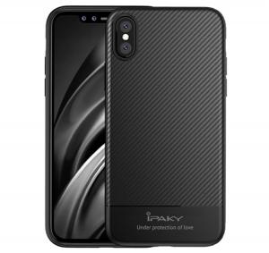 Husa iPaky Carbon Fiber iPhone X, Negru0