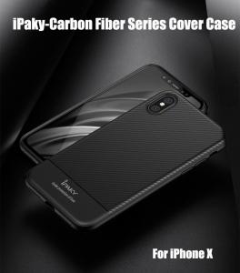 Husa iPaky Carbon Fiber iPhone X, Negru2