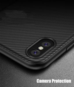 Husa iPaky Carbon Fiber iPhone X, Negru3