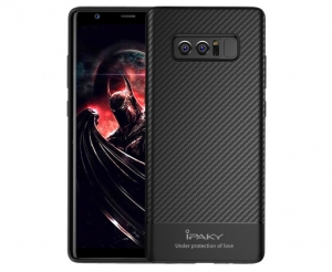 Husa iPaky Carbon Fiber Samsung Galaxy Note 8, Negru0