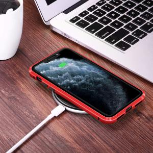 Husa iPhone 11 Magnetic Glass 360 (sticla fata + spate), Red3