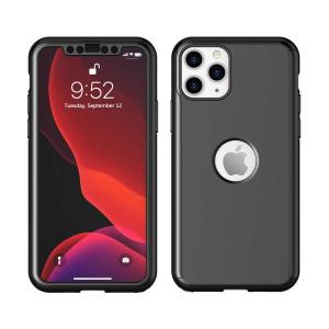 Husa iPhone 11 Pro Full Cover 360 + folie sticla, Negru2