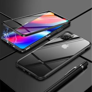 Husa iPhone 11 Pro Magnetic Glass 360 (sticla fata + spate), Negru [1]