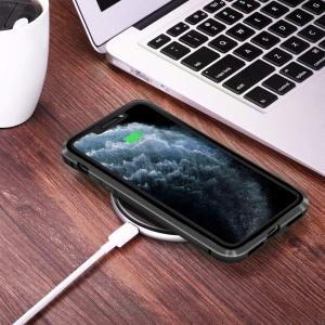 Husa iPhone 11 Pro Magnetic Glass 360 (sticla fata + spate), Negru [2]