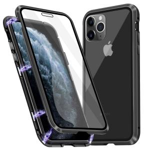 Husa iPhone 11 Pro Magnetic Glass 360 (sticla fata + spate), Negru [0]