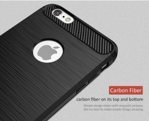 Husa iPhone 6 / 6S iPaky Fiber, Negru [2]